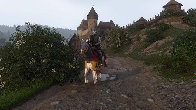 Henry montando a caballo en Kingdom Come: Deliverance.