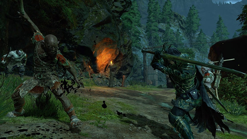Talion peleando contra orcos.