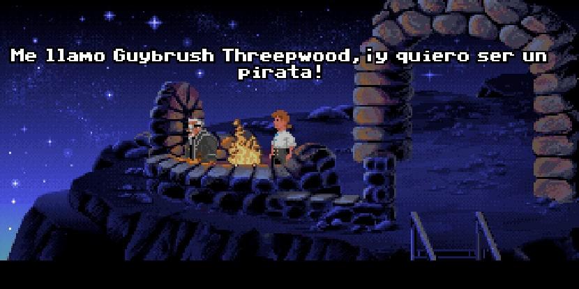 Guybrush quiere ser un pirata.