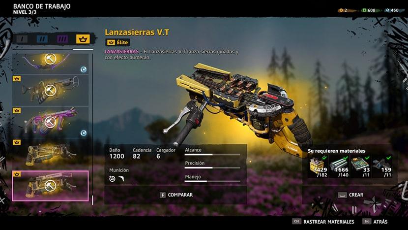 Ejemplo de arma de Far Cry New Dawn.