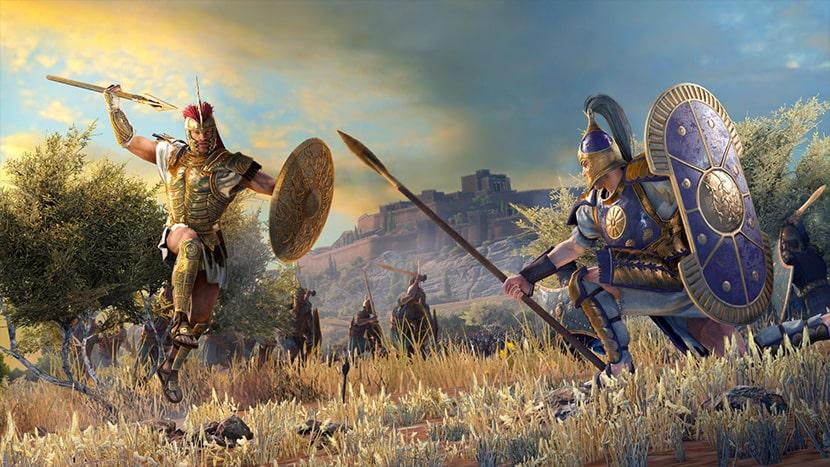 Aquiles y Héctor en Troy: A Total War Saga.