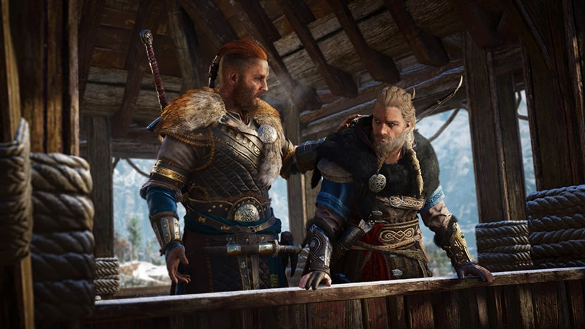 Evivor y su hermano Sigurd en Assassin's Creed Valhalla.
