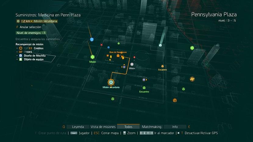 Mapa de The Division.