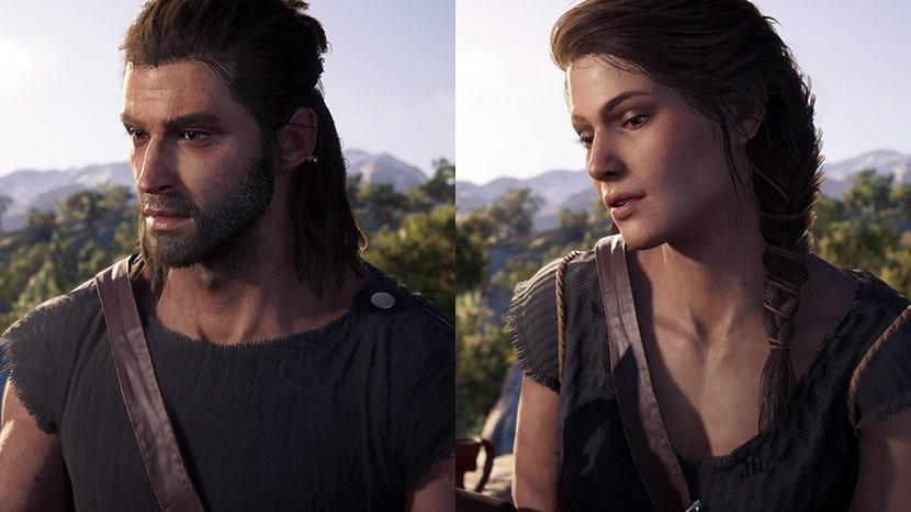 Alexios y Kassandra de Assassin's Creed Odyssey.