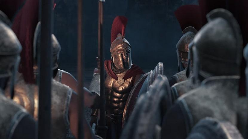 Leónidas en Assassin's Creed Odyssey.