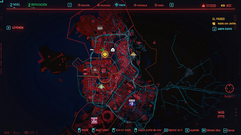 Mapa de Night City.