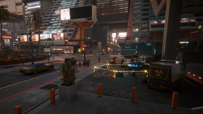 Calles de Night City.