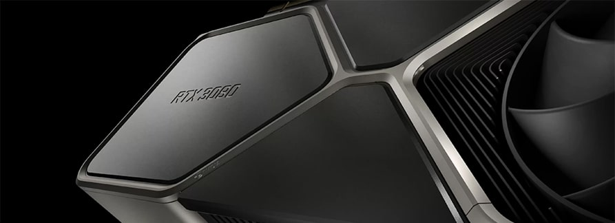 Tarjeta gráfica Nvidia RTX 3080.