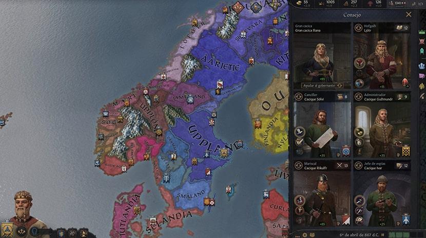 Consejo en Crusader Kings III.