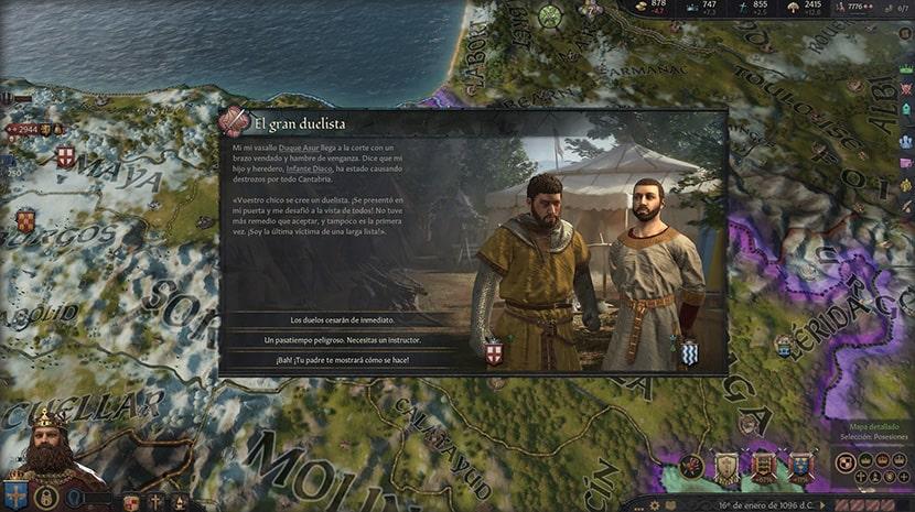 Evento aleatorio en Crusader Kings III.