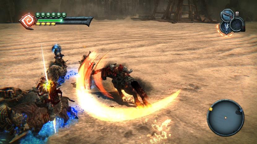 Guerra luchando a lomos de su caballo Ruina.