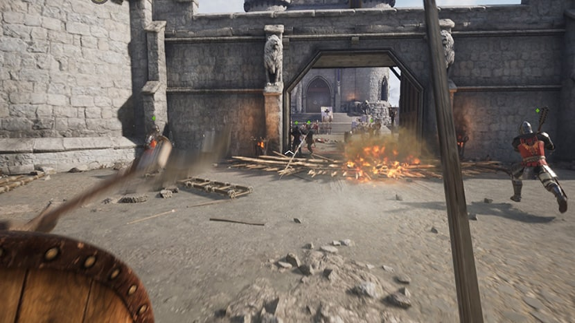 Asedio a una fortaleza en Chivalry II.