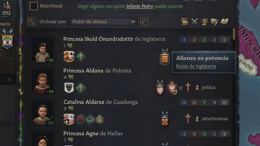 Alianzas en Crusader Kings III.