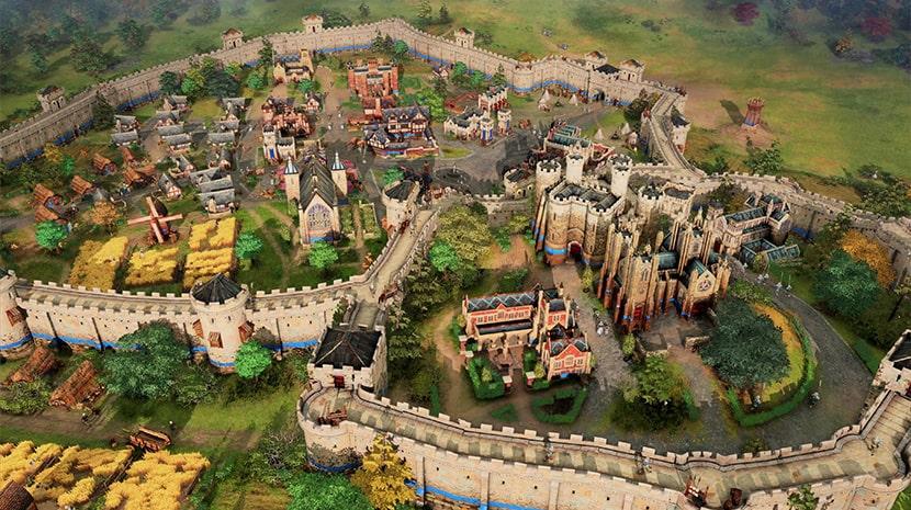 Ciudad en Age of Empires IV.