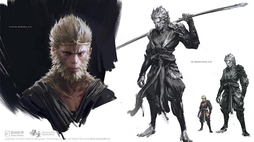 Conceptos del diseño de Sun Wu-Kong.