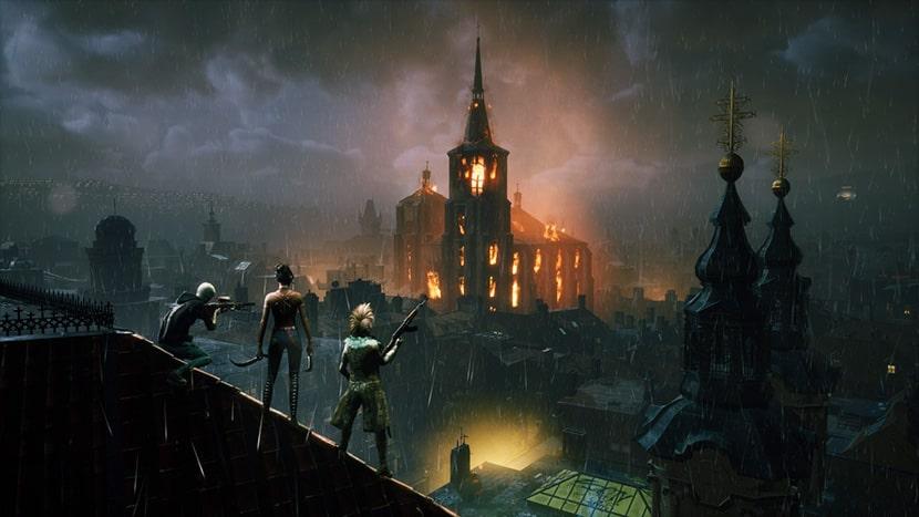Iglesia ardiendo en el battle royale Bloodhunt.
