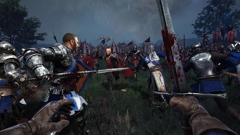 Batalla en Chivalry II.