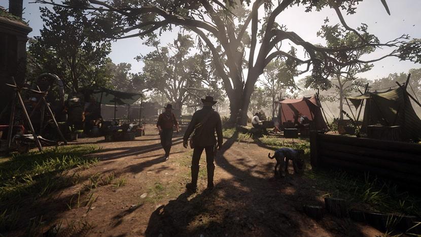 Campamento de la banda de Dutch van der Linde en Red Dead redemption 2.
