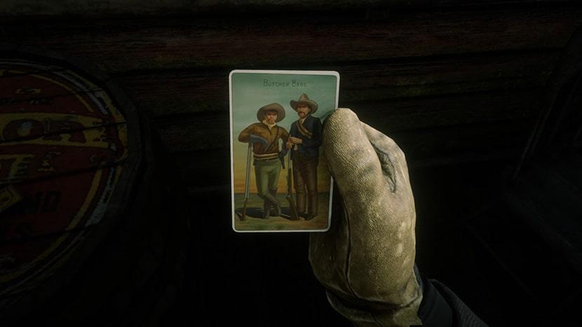 Cromo de paquete de cigarros de Red Dead Redemption 2.