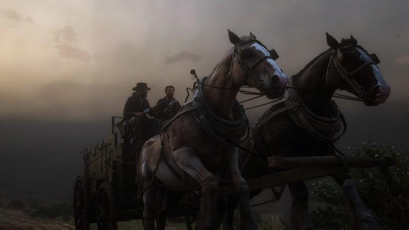 Carro de caballos.
