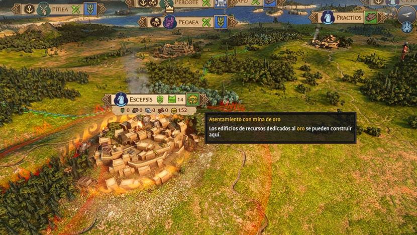 Mapa de campaña de A Total War Saga: Troy.
