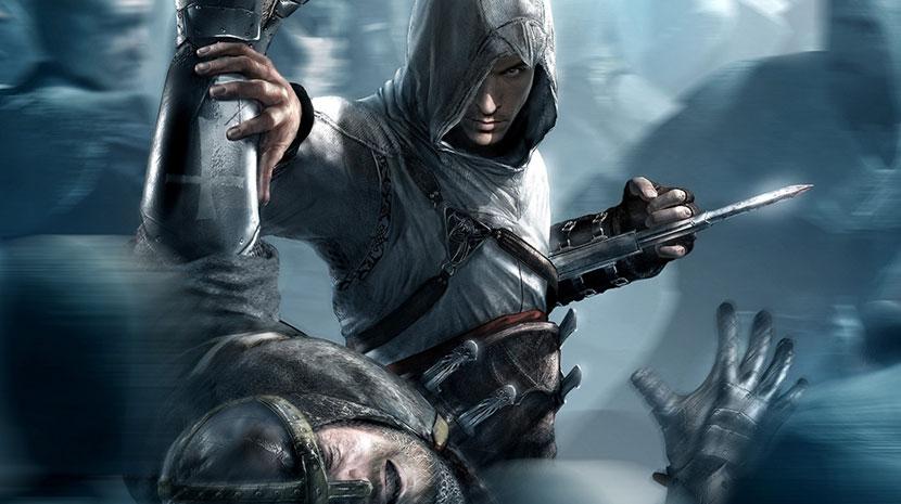 Altair, protagonista del primer Assassin's Creed, matando a un cruzado.
