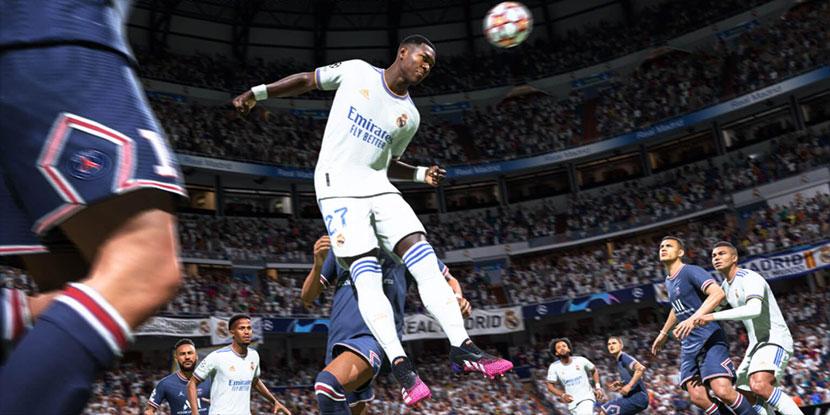 Captura del juego FIFA 22.
