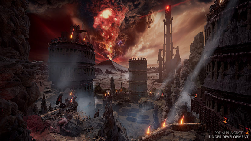Gollum acecha sobre la fortaleza de Barad-dûr.