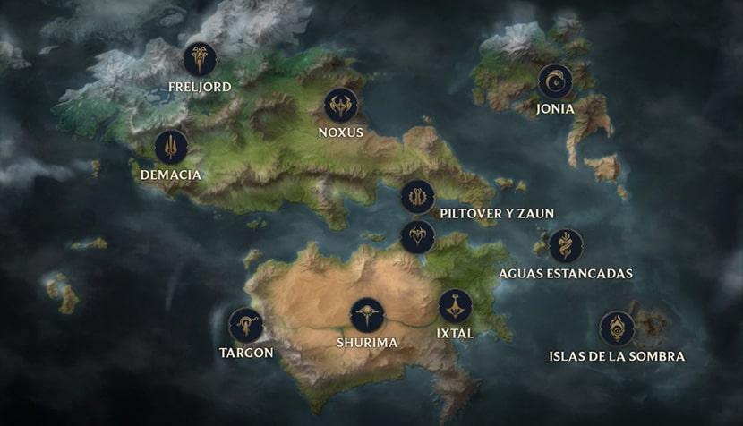 Runaterra, el mundo en el que tendrá lugar el MMO de League of Legends.