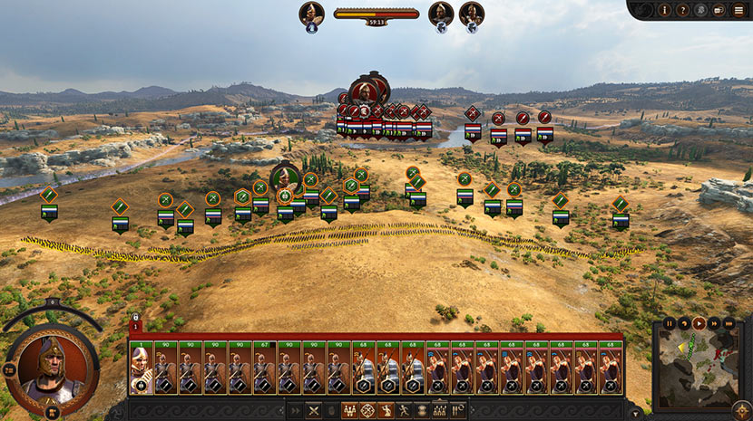 Las tropas de Héctor se preparan para la batalla..