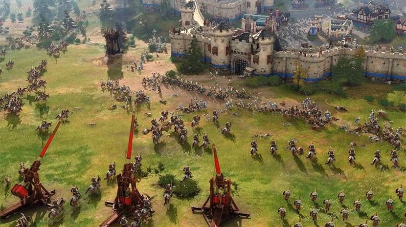 Batalla en Age of Empires IV.