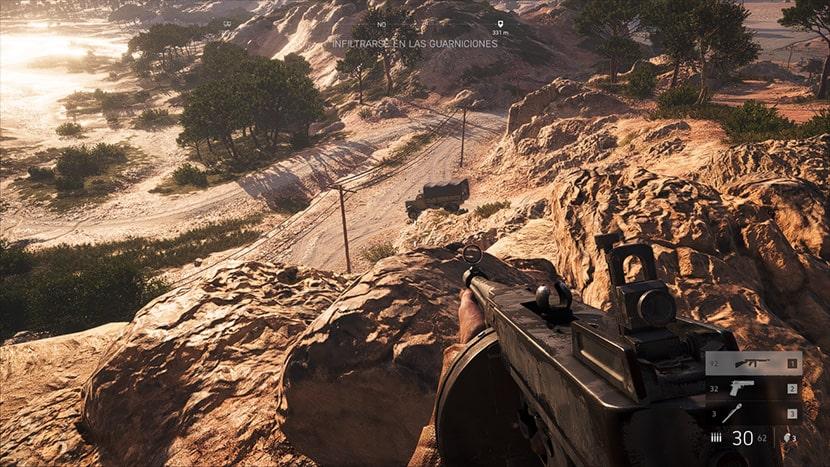 El videojuego Battlefield V con ray tracing activado.
