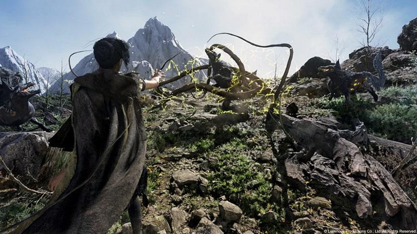 Frey emplea sus poderes para atacar a unos enemigos.