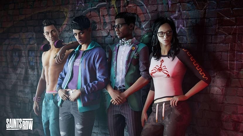 Protagonistas del reinicio de Saints Row.