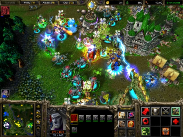 Batalla en Warcraft III.