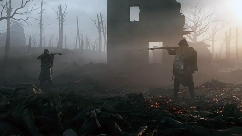 Dos soldados se apuntan mutuamente en Battlefield V.