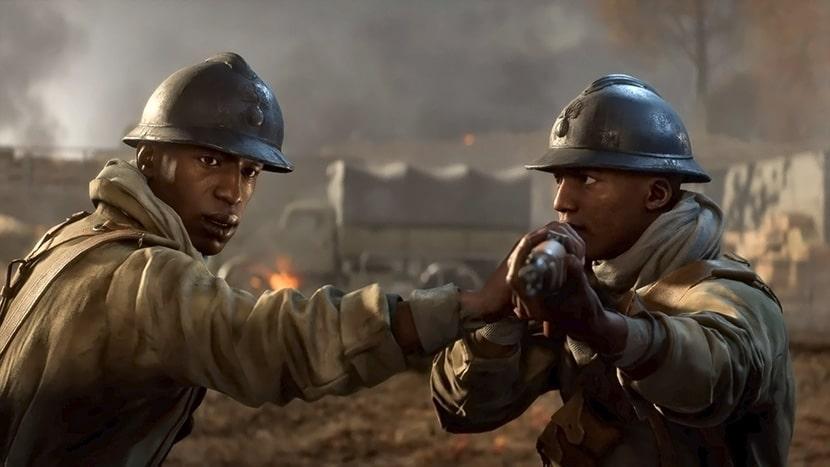 Deme e Idrissa en Battlefield V.