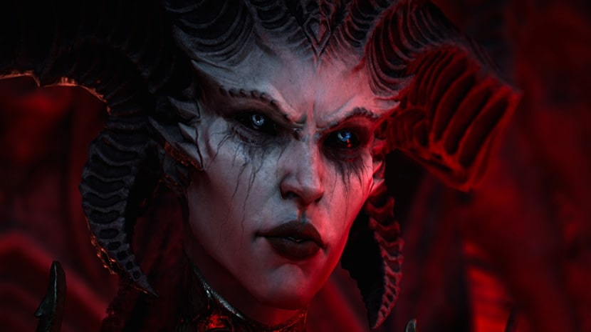 Rostro de Lilith en Diablo IV.