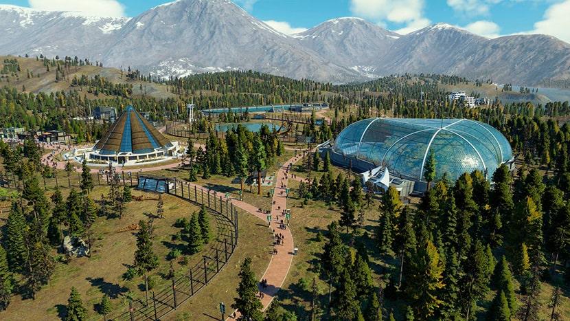 Parque en Jurassic World Evolution 2.