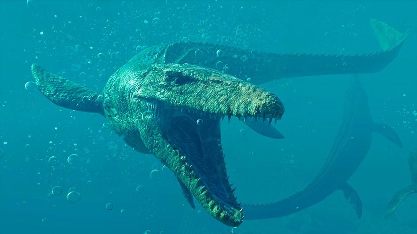 Mosasaurus en Jurassic World Evolution 2.