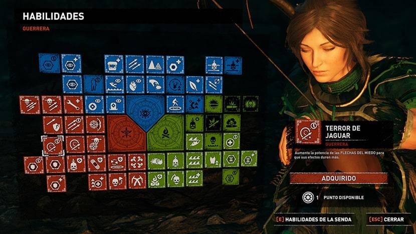 Habilidades de Lara.