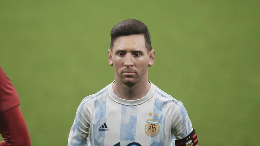 Lionel Messi en eFootball 2022.